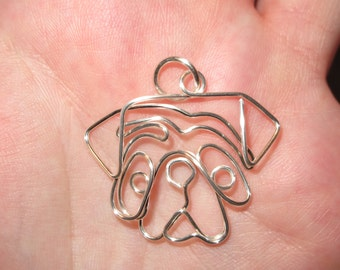 Wire Wrapped Pug Pendant MADE to ORDER
