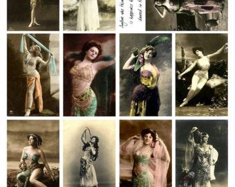 Dancers V1, Vintage Photos of Women Dancing Collage Sheet - Digital Download JPG File by Swing Shift Designs
