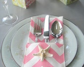 Sets Of Chevron Silverwear Holder, Available In Different Colors, Wedding Silverwear Holder, SET OF 4 or 6, Table Topper