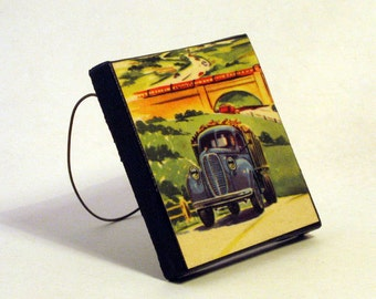 PICK-UP TRUCK Handmade Ornament from Vintage Upcycled Book Childrens Reader Vintage Pick-Up Truck