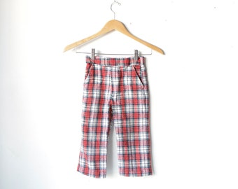 PLAID kids 60s vintage pants made by SAKS fifth AVENUE