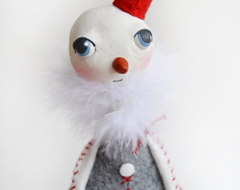 Whimsical Snowman - Christmas Snowman - Whimsical Christmas