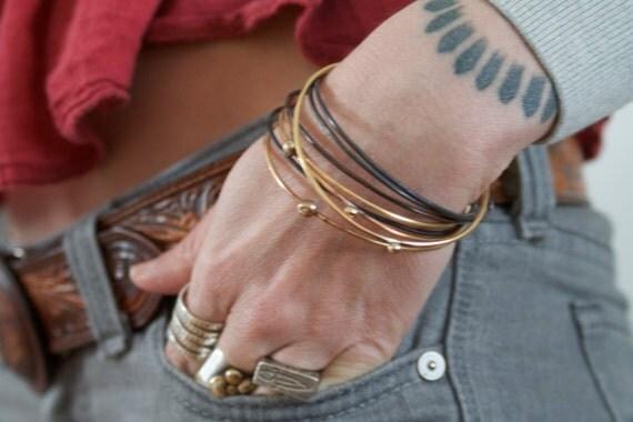 Deschutes Bangles Stack of 9 Bracelets