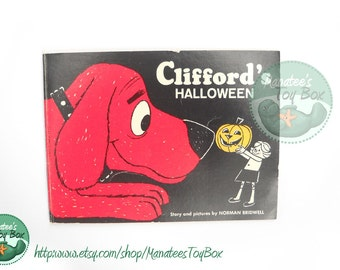 Clifford's Halloween Book 1960s Vintage Halloween Book