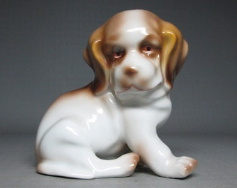 ERPHILA germany pottery or porcelain puppy / dog
