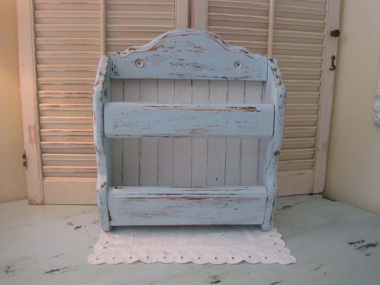 Parete rovere rustico shabby storage portariviste cottage for Rustico paese francese