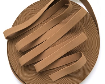 "1"" Almond Brown Stretch Elastic Band"