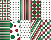Red and Green Scrapbook Paper, Christmas Scrapbook Paper, Printable Red and Green paper, printable Red and Green scrapbook paper
