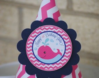 NEW - Pink Whale Party Hat