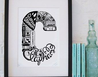 Best of Clapham limited edition screenprint // London Letters series