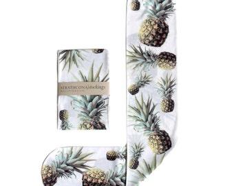 White Pinapple Socks