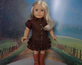 Australian Outback dress for American Girl or similar 18 inch doll.
