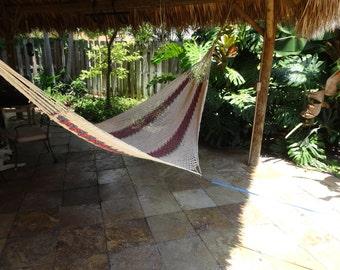 Hammocks! Adult sized cotton hand woven hammock from Guatemala.  Mayan made banana hammocks 2