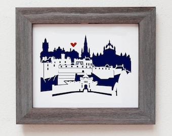 "Edinburgh, Scotland 11x14"" cutout artwork"
