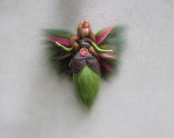 Silvia Fairy needle felted and waldorf inspried