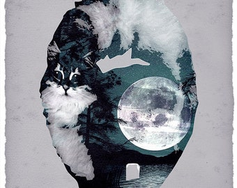 the cat that swallowed the moon blue