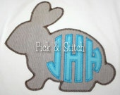 Easter Bunny Silhouette Made for Monogram Applique Design Machine Embroidery INSTANT DOWNLOAD