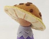 Plush Mushroom felt Doll / Arius