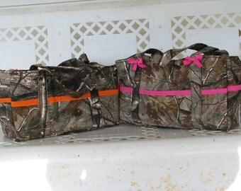 Camo print purse, diaper bag or messenger bag