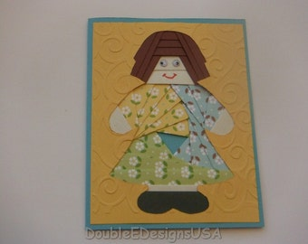 Baby Doll  Iris Folded Card