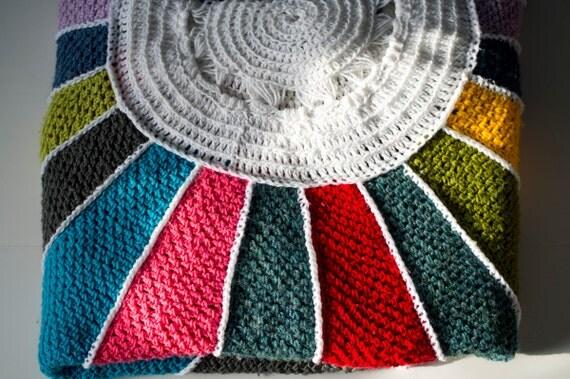 Crochet Pattern Sunburst Afghan