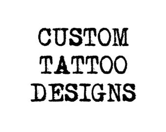 Custom Temporary Tattoo - Custom Tattoo Design - Logo Tattoo - Wedding Tattoos - Party Tattoo - Event Tattoos