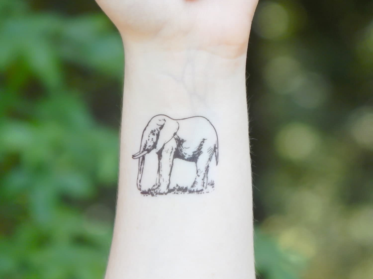 temporary tattoo elephant tattoo animal tattoo ForTemporary Elephant Tattoo