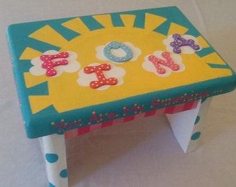 Custom Painted Little Girl S Step Stool By Louieandrose On