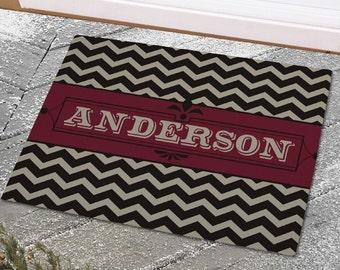 Personalized Chevron Welcome Doormat -gfy83173207S