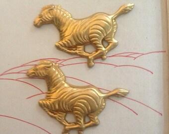 Small Galloping Zebra Charm (1 pair )