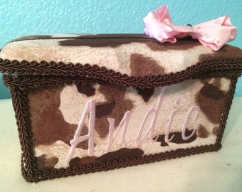 Adorable Cowgirl Inspired Large Diaper Wipes Tub