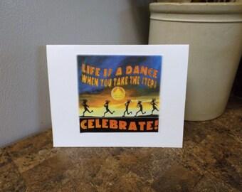 12 STEP RECOVERY CARD 5 Kokopelli dance across southwest sunset.