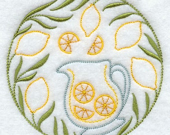 Fresh Squeezed Lemonade - Embroidered Flour Sack Hand/Dish Towel
