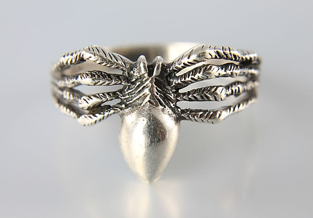vintage spider ring sterling silver jewelry
