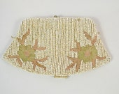 Vintage Seed Bead Coin Purse Clutch