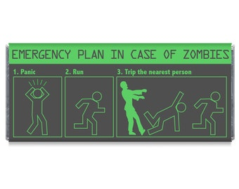 Zombie Party Favors Zombie Birthday Party Candy Bar Wrappers - Set of 12