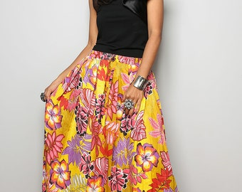 Flower Skirt - Floral Maxi Skirt : Feel Good Collection No.1