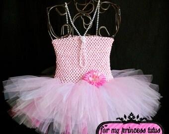 Vintage Pink Tutu Dress - infant tutu, baby tutu, vintage tutu, dress up tutu, pageant tutu, flower girl tutu, wedding tutu, birthday tutu