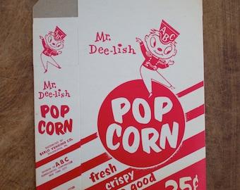 Set of 4 Vintage Pop Corn box