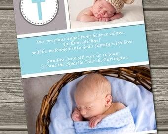 Christening / Baptism Invitation (Digital File) - Jackson