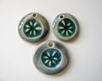 Sea Flower Charms Stoneware Clay (3)