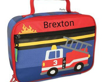 Personalized Lunch Box Bag Stephen Joseph Fire Truck