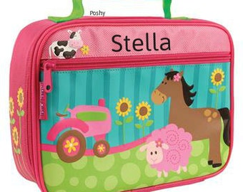 Personalized Lunch Box Bag Stephen Joseph Farm Girl