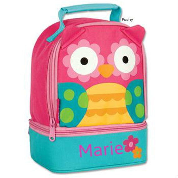 Personalized Girls Lunch Box Bag Stephen Joseph Lunch Pals in Hoot Owl