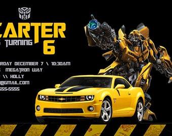 Transformers Birthday Invitation - Personalized Birthday Party Invite - a Digital Printable File
