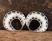 Lace Disc Silver Earrings