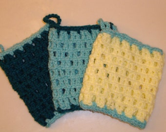 SALE!  SET OF 3  Crochet Dish Scrubbies (8.00)