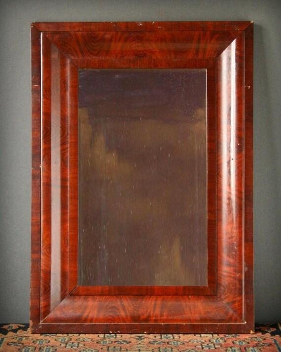 Mahogany Ogee Wall Mirror Empire Mirror Antique Wooden