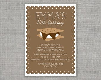 S'more Birthday Party Invitation