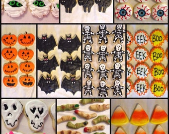 Halloween Sugar cookies Small mix and match